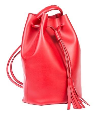 Matraş Büzgülü Çanta Kırmızı